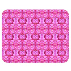 Pretty Pink Flower Pattern Double Sided Flano Blanket (Medium)