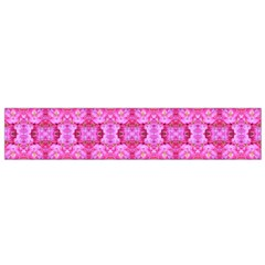 Pretty Pink Flower Pattern Flano Scarf (Small)
