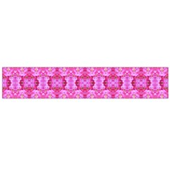 Pretty Pink Flower Pattern Flano Scarf (Large)