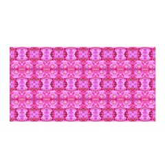 Pretty Pink Flower Pattern Satin Wrap