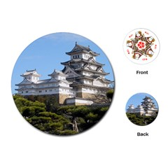 Himeji Castle Playing Cards (round)  by trendistuff