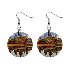 Angkor Wat Mini Button Earrings