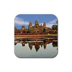 Angkor Wat Rubber Coaster (square)  by trendistuff
