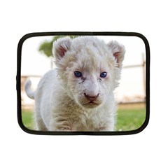 White Lion Cub Netbook Case (small)  by trendistuff