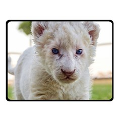White Lion Cub Fleece Blanket (small) by trendistuff