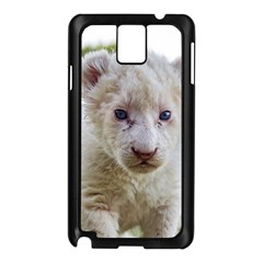 White Lion Cub Samsung Galaxy Note 3 N9005 Case (black) by trendistuff