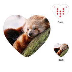Red Panda Playing Cards (heart)  by trendistuff