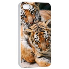 Baby Tigers Apple Iphone 4/4s Seamless Case (white)