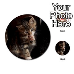 Talk To The Paw Multi Purpose Cards (round)  by trendistuff