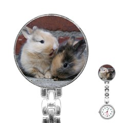 Small Baby Rabbits Stainless Steel Nurses Watches by trendistuff