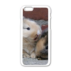 Small Baby Rabbits Apple Iphone 6/6s White Enamel Case