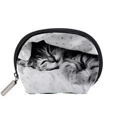 Sleepy Kitty Accessory Pouches (small)  by trendistuff