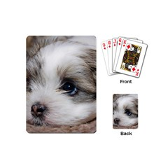 Sad Puppy Playing Cards (mini)  by trendistuff