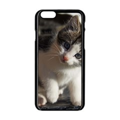 Questioning Kitty Apple Iphone 6/6s Black Enamel Case
