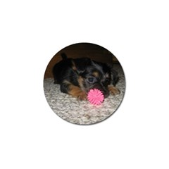 Puppy With A Chew Toy Golf Ball Marker (10 Pack) by trendistuff