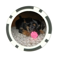 Puppy With A Chew Toy Poker Chip Card Guards by trendistuff