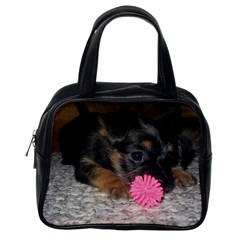 Puppy With A Chew Toy Classic Handbags (one Side) by trendistuff