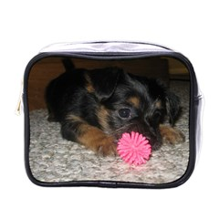 Puppy With A Chew Toy Mini Toiletries Bags by trendistuff