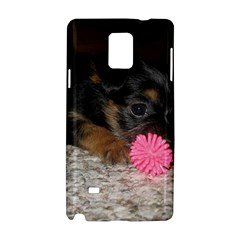 Puppy With A Chew Toy Samsung Galaxy Note 4 Hardshell Case by trendistuff