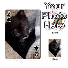 Pretty Blue Eyed Kitty Playing Cards 54 Designs  by trendistuff