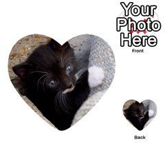 Pretty Blue Eyed Kitty Multi Purpose Cards (heart)  by trendistuff