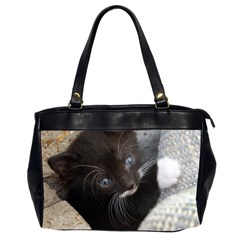 Pretty Blue Eyed Kitty Office Handbags (2 Sides)  by trendistuff