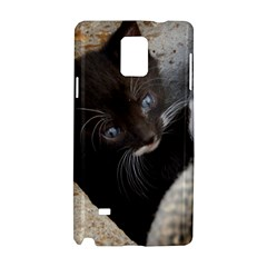 Pretty Blue Eyed Kitty Samsung Galaxy Note 4 Hardshell Case by trendistuff