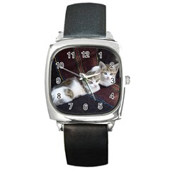Kitty Twins Square Metal Watches by trendistuff