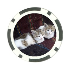 Kitty Twins Poker Chip Card Guards by trendistuff