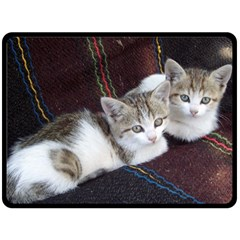 Kitty Twins Fleece Blanket (large)  by trendistuff