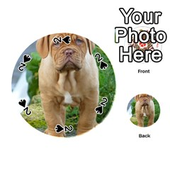 Cute Wrinkly Puppy Playing Cards 54 (round)