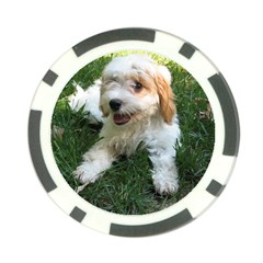 Cute Cavapoo Puppy Poker Chip Card Guards by trendistuff