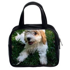 Cute Cavapoo Puppy Classic Handbags (2 Sides) by trendistuff