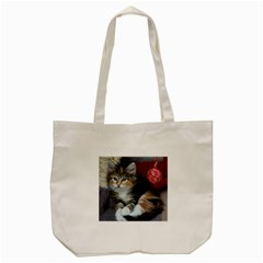 Comfy Kitty Tote Bag (cream)  by trendistuff