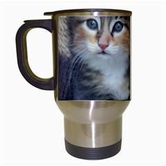 Comfy Kitty Travel Mugs (white) by trendistuff