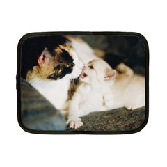 Calico Cat And White Kitty Netbook Case (small)  by trendistuff