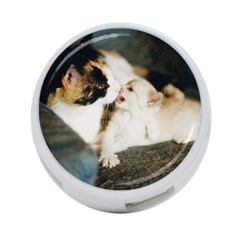Calico Cat And White Kitty 4 Port Usb Hub (one Side) by trendistuff