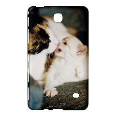 Calico Cat And White Kitty Samsung Galaxy Tab 4 (8 ) Hardshell Case