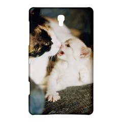 Calico Cat And White Kitty Samsung Galaxy Tab S (8 4 ) Hardshell Case  by trendistuff