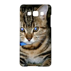 Blue Eyed Kitty Samsung Galaxy A5 Hardshell Case  by trendistuff
