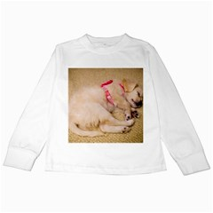 Adorable Sleeping Puppy Kids Long Sleeve T Shirts by trendistuff