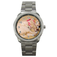 Adorable Sleeping Puppy Sport Metal Watches