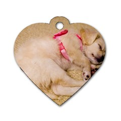 Adorable Sleeping Puppy Dog Tag Heart (one Side)