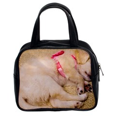 Adorable Sleeping Puppy Classic Handbags (2 Sides) by trendistuff