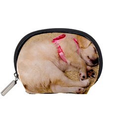 Adorable Sleeping Puppy Accessory Pouches (small)  by trendistuff