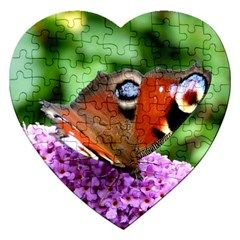 Peacock Butterfly Jigsaw Puzzle (heart) by trendistuff