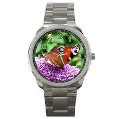 Peacock Butterfly Sport Metal Watches by trendistuff