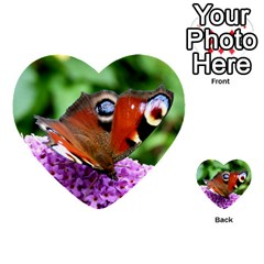 Peacock Butterfly Multi Purpose Cards (heart)  by trendistuff