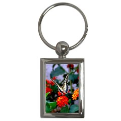 Butterfly Flowers 1 Key Chains (rectangle)  by trendistuff
