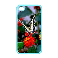 Butterfly Flowers 1 Apple Iphone 4 Case (color) by trendistuff
